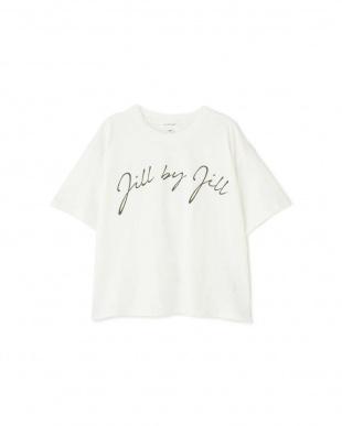 ホワイト オータムビッグロゴTシャツ Jill by Jill リプロを見る