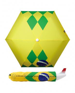 ブラジル  飛行機型 折り畳み傘を見る