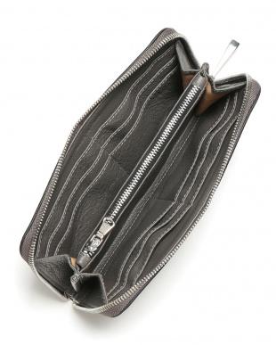 グレー WALLET レザー ラウンドジップ 長財布を見る