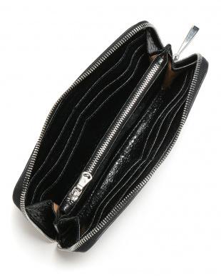 ブラック WALLET レザー ラウンドジップ 長財布を見る