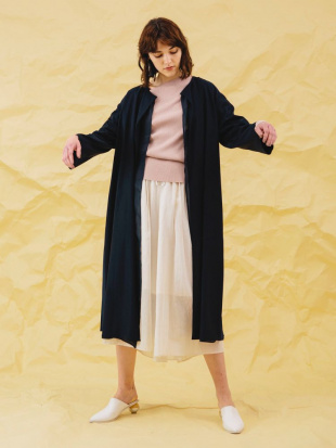 ネイビー TWILL  BACK PLEATS CT ELENDEEKを見る
