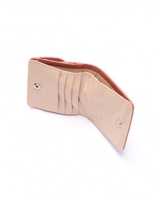 Bピンク  クロコダイル&牛革クロコ型押しコンパクト財布を見る