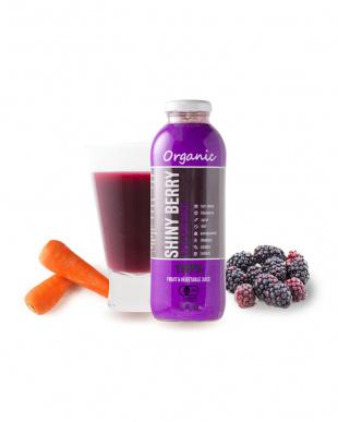 オーガニックの紫のフルーツとにんじんの有機コールドプレスジュース 「シャイニーベリー」 2本セットを見る