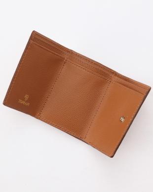 キャメル 角シボ型押し・三つ折りミニ財布 COLORATO コロラートを見る