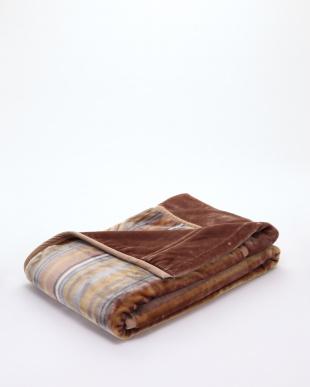 ブラウン ふわふわマイヤー毛布(2枚合わせ)を見る