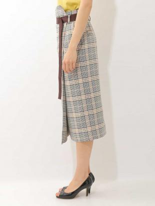 ベージュ オリジナルチェックタイトスカート MICHEL KLEINを見る