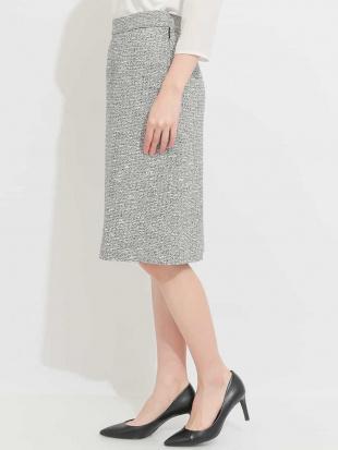 ライトグレー 【セットアップ対応商品】スラブラメツイードセミタイトスカート MICHEL KLEINを見る