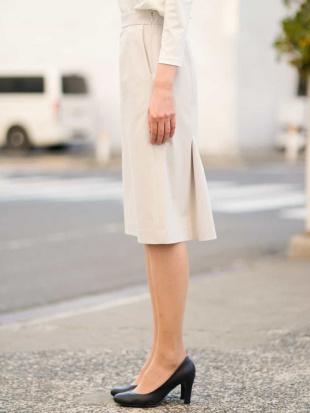 オフホワイト 【洗える/セットアップ対応】トリコットセミフレアスカート MICHEL KLEINを見る