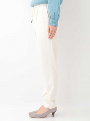 ホワイト 【洗える】裏起毛ドロストタックパンツ MICHEL KLEINを見る