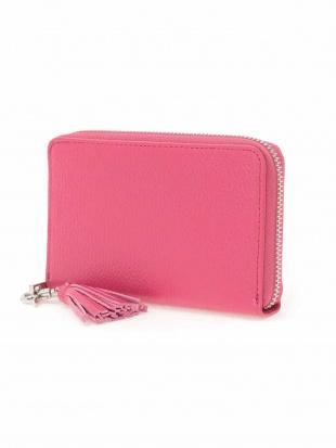 ピンク リアルレザー二つ折り財布 MK MICHEL KLEIN BAGを見る