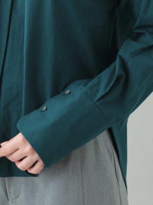 ブラウン 【2way/洗濯機で洗える】抜き衿カラーシャツブラウス MK MICHEL KLEINを見る