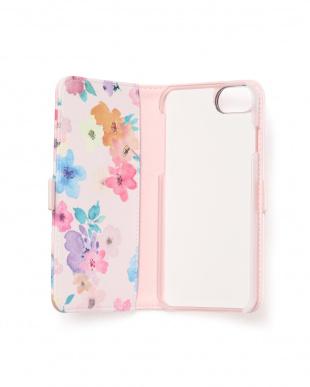 ピンク フラワースカラップ2・フラップ ケース iPhone8.7.6s.6/Lilietmoiを見る