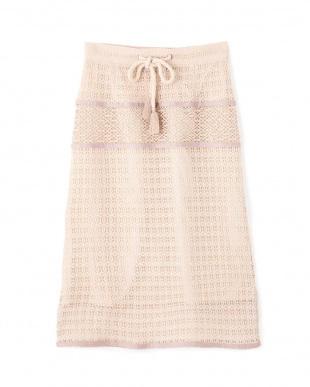 ホワイト ヴィンテージクロシェタイトスカート Jill by Jill リプロを見る