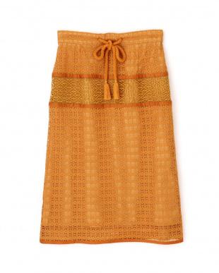 オレンジ ヴィンテージクロシェタイトスカート Jill by Jill リプロを見る