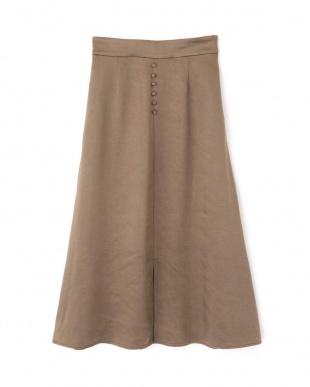 カーキ スリークボタンスカート Jill by Jill リプロを見る