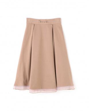 ベージュ シアヘムビットスカート Jill by Jill リプロを見る