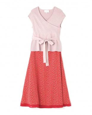 ピンク カシュクールナローサテンスカートセット Jill by Jill リプロを見る