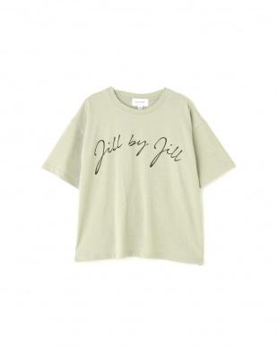 グリーン オータムビッグロゴTシャツ Jill by Jill リプロを見る