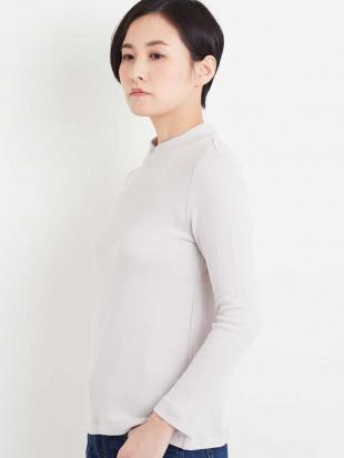 ホワイト 【洗濯機OK】【日本製】ハイネックコットンカットソー GEORGES RECHを見る