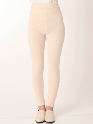 クリーム CORDUROY LEGGINGS ELENDEEKを見る