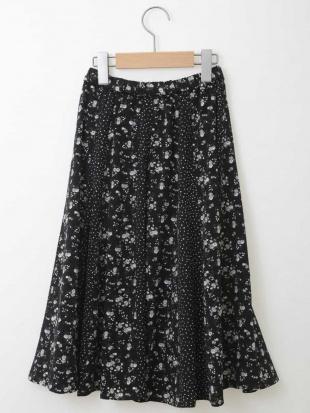 ブラック [140-150]フラワードットドッキングスカート a.v.v bout de chouを見る