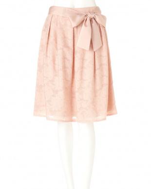 ピンク1 カットフラワージャカードスカート NATURAL BEAUTYを見る