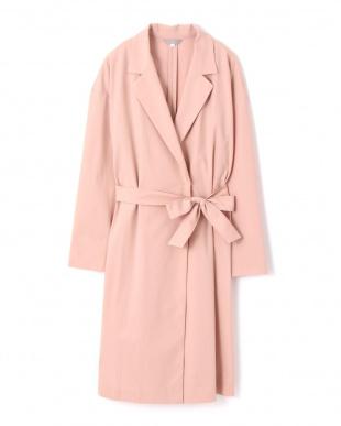 ピンク2 |狩野恵里さん着用|《Purpose》ハイコンパクトトリコット コート NATURAL BEAUTYを見る