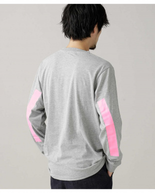グレー :スリーブラインプリントTシャツLS ナノ・ユニバースメンズ(アウトレット専売)を見る
