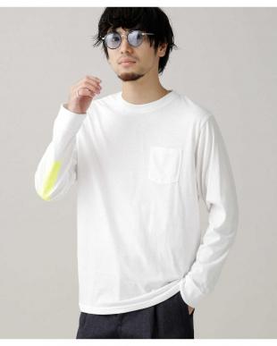 ホワイト :スリーブラインプリントTシャツLS ナノ・ユニバースメンズ(アウトレット専売)を見る