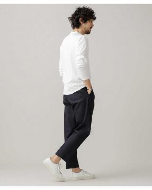 ホワイト :スーピマモックネックTシャツ LS ナノ・ユニバースメンズ(アウトレット専売)を見る