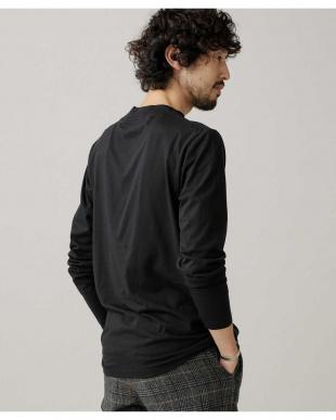 ブラック :スーピマモックネックTシャツ LS ナノ・ユニバースメンズ(アウトレット専売)を見る
