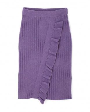 PURPLE ◆<otona MUSE×JILLSTUART>ミューズニットスカート ジルスチュアートライセンスを見る
