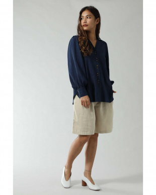 ネイビー BIG SLEEVE STRIPE SHIRTS BLOUSE R/B(オリジナル)を見る