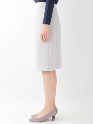 ネイビー 【セットアップ可】ストレッチ切り替えスカート OFUONを見る
