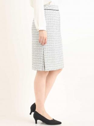 ネイビー 【セットアップ対応】ネップツイードタイトスカート OFUONを見る