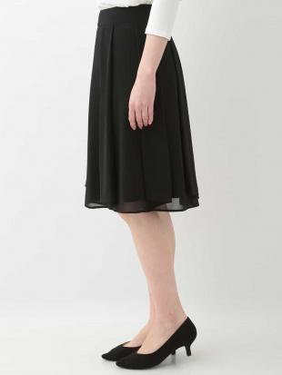 ブラック シフォンプリーツスカート OFUONを見る