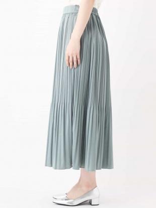 グリーン ミントグリーンプリーツスカート a.v.vを見る