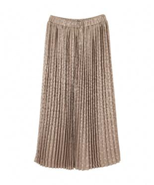 シャンパンゴールド レオパードプリーツスカートを見る