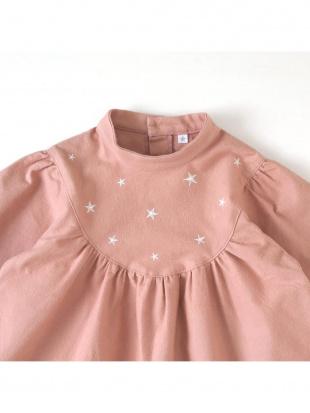 ピンク スター刺しゅう 長袖ドレスを見る