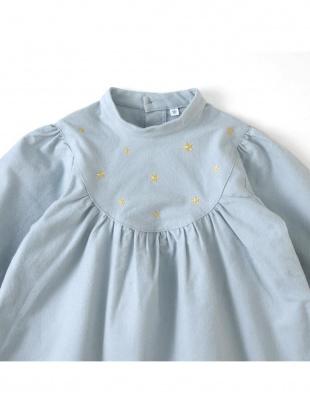 ブルー スター刺しゅう 長袖ドレスを見る
