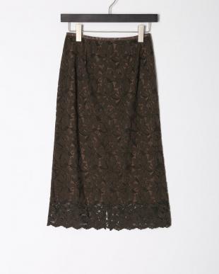 カーキグリーン レースタイトスカートを見る