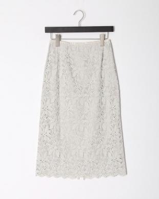 L/グレー レースタイトスカートを見る