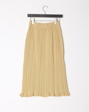 BEIGE ケーブルニットマーメイドスカートを見る