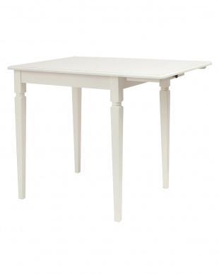 ホワイト 片バタテーブルを見る