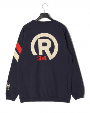NAVY R MARK RIBBED POCKET LONG T-SHIRTを見る