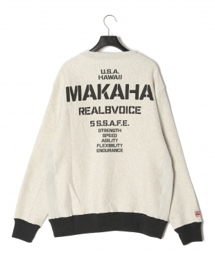 GRAY MAKAHA STENCIL CREW SWEAT T-SHIRTを見る
