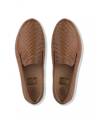 Cognac SUPERSKATE LOAFERS - WOVEN LEATHERを見る
