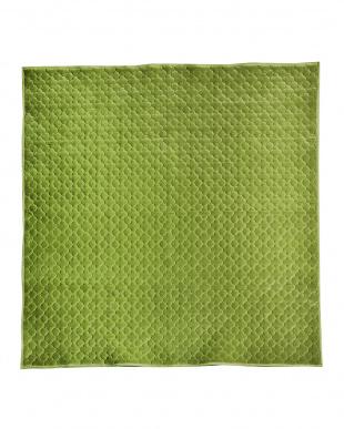 グリーン 北欧カラーのもちもちキルトラグ グレイッシュ 185×185を見る