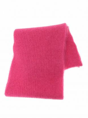 ピンク あぜ編みカラーマフラー IMPORTED TARA JARMONを見る