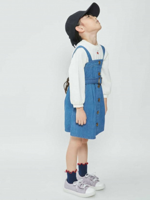 ブルー [100-130]デニムトレンチジャンパースカート[WEB限定サイズ] a.v.v bout de chouを見る